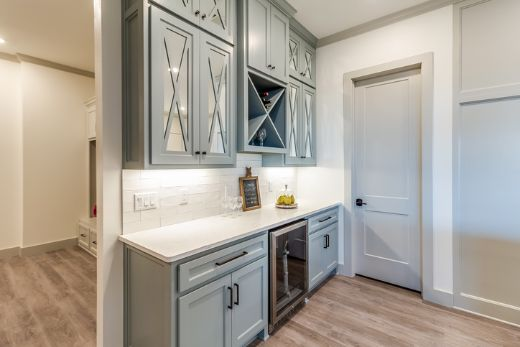 Classic Light Blue Cabinetry With Modern Twist At Townsville Carpenters